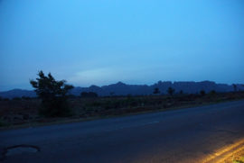 Over those mountains lays the city of Jos