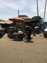 Nigerian street vendors sell everything from nuts to engine oil.