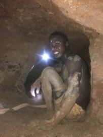 hardworking sapphire miner